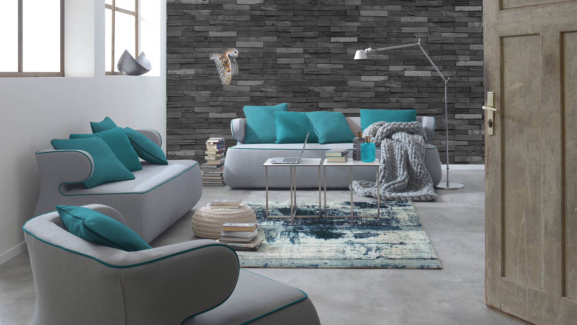 Bonny is ideal for a chill areas in a modern open space / <i>Bonny ist ideal für eine Chill-Area in einem modernen Open Space (Design by dietzproduktdesign)</i>